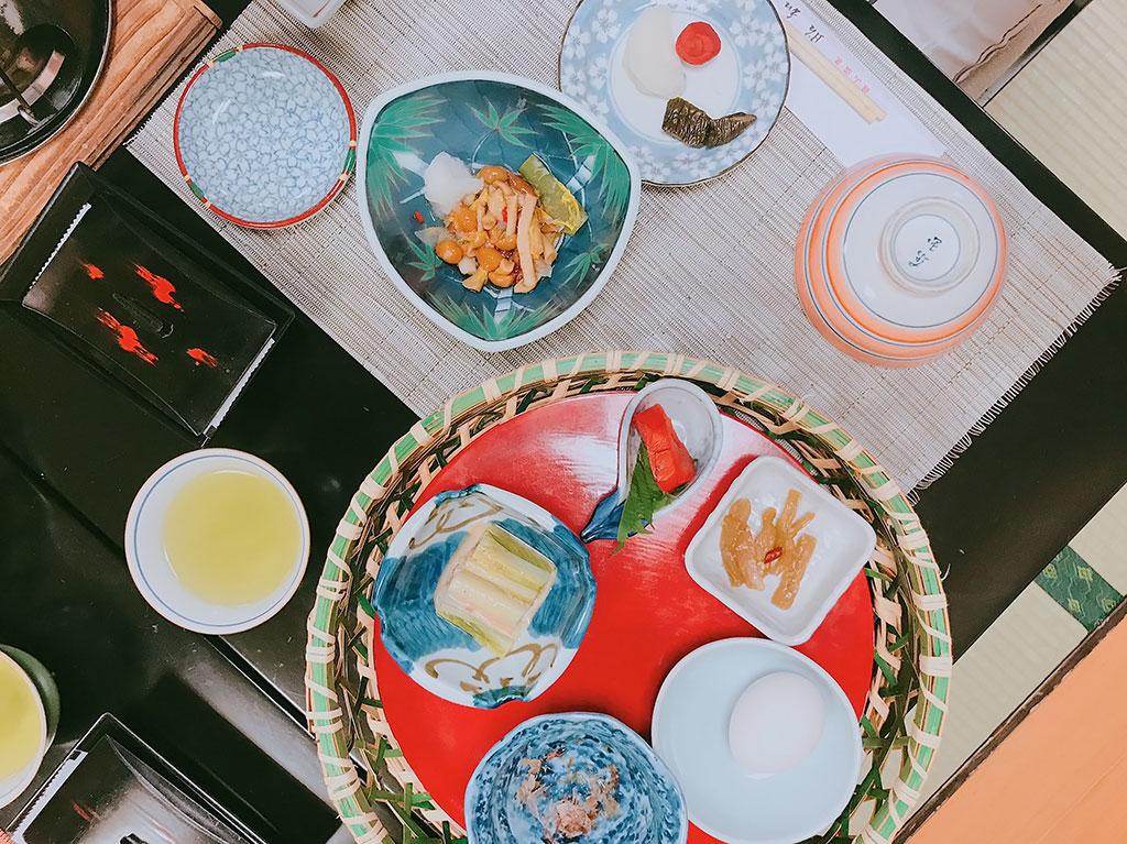 Cena kaiseki en Ginzan Onsen